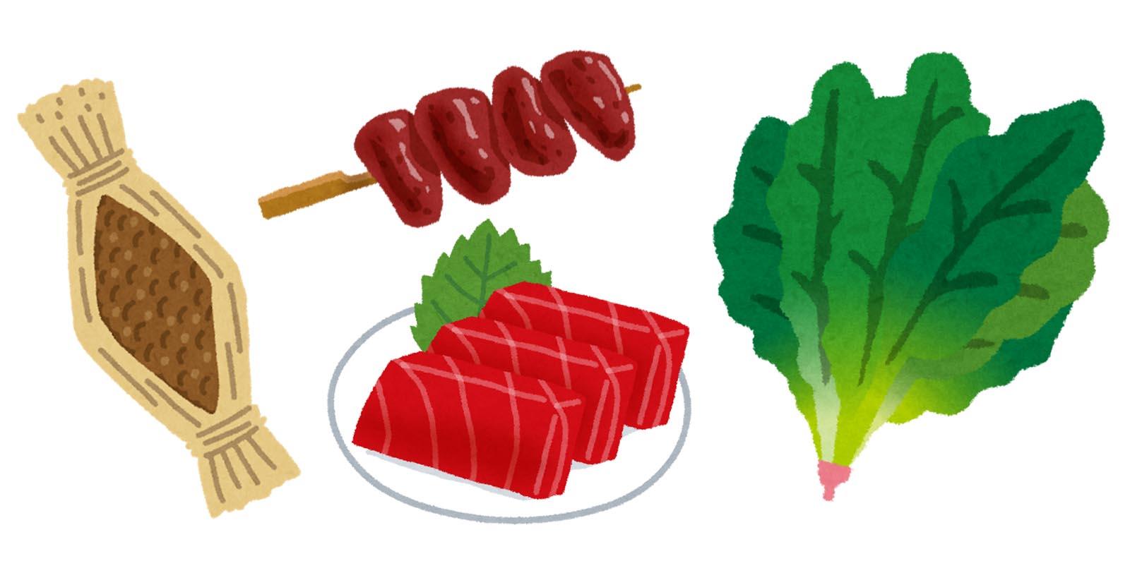 鉄分を含む食物例