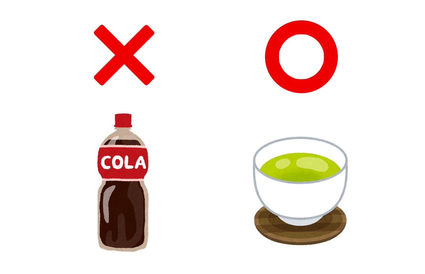 甘い飲み物を「温かいお茶か白湯」に置き換える