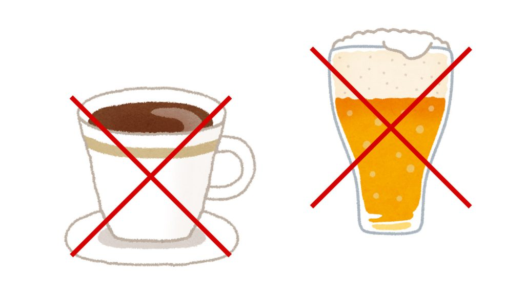 コーヒーや紅茶、お酒もニキビ・ブツブツの原因かも!