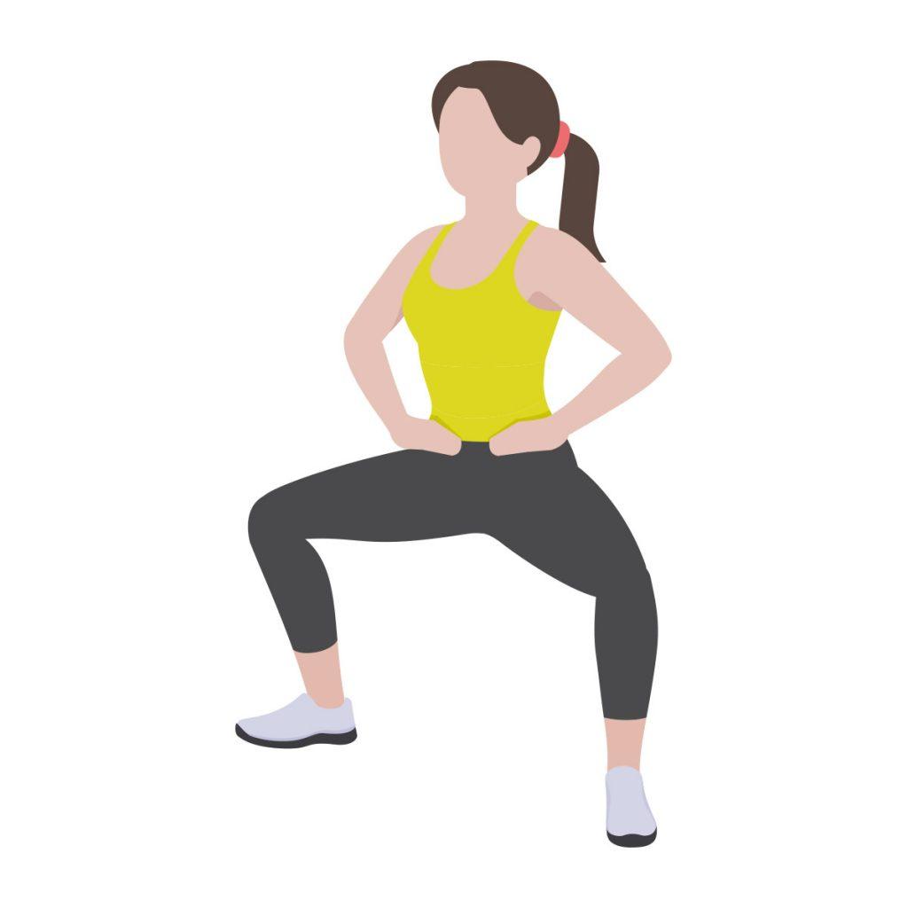 尿漏れ対策エクササイズ(1)相撲スクワット