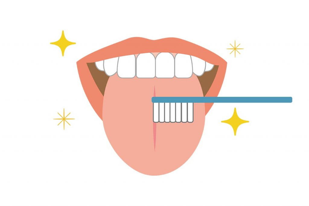 「舌苔(ぜったい)」が原因で臭いを発することも