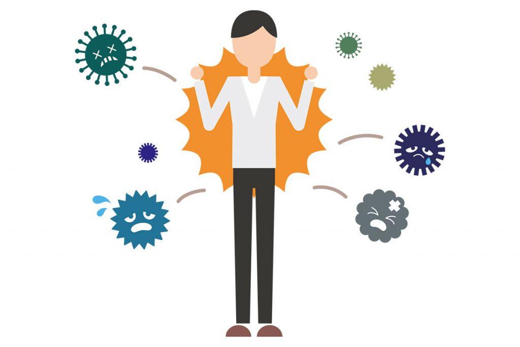 身を守るには「感染症対策」、「免疫力を高めること」が大事